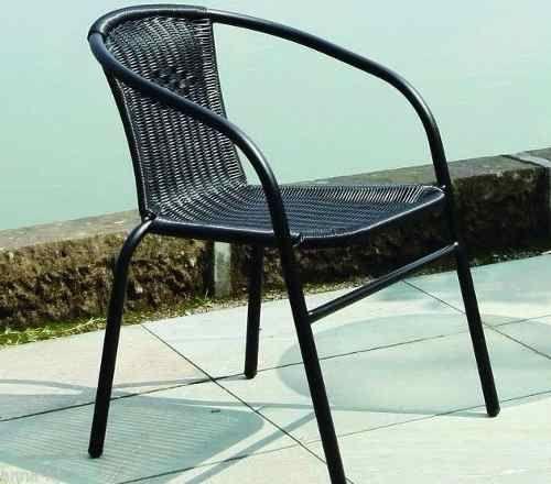 silla butaca de rattan sintetico apilable muy resitente
