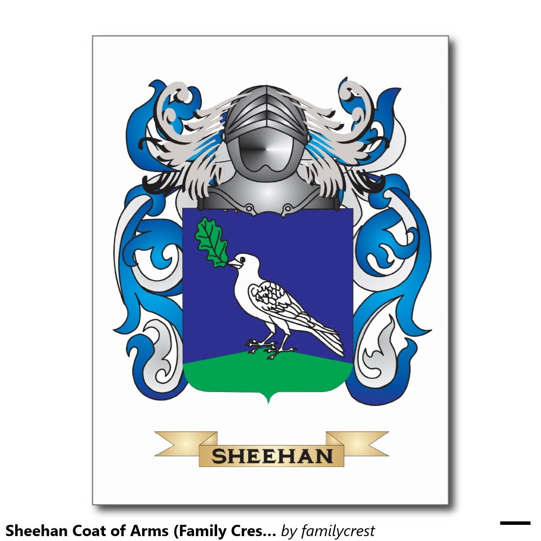 Sheehan coat of arms family crest postcard gift ideas sheehan coat of arms family crest postcard biocorpaavc