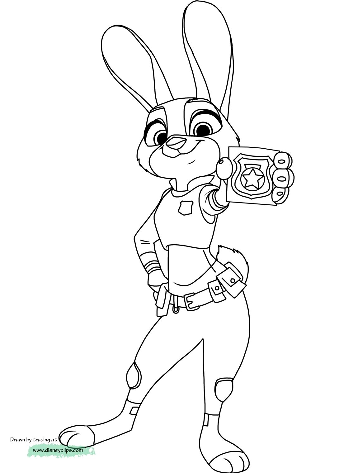 Judy Hopps Coloring Pages To Print Zootopia Coloring Pages Disney Coloring Pages Coloring Pages