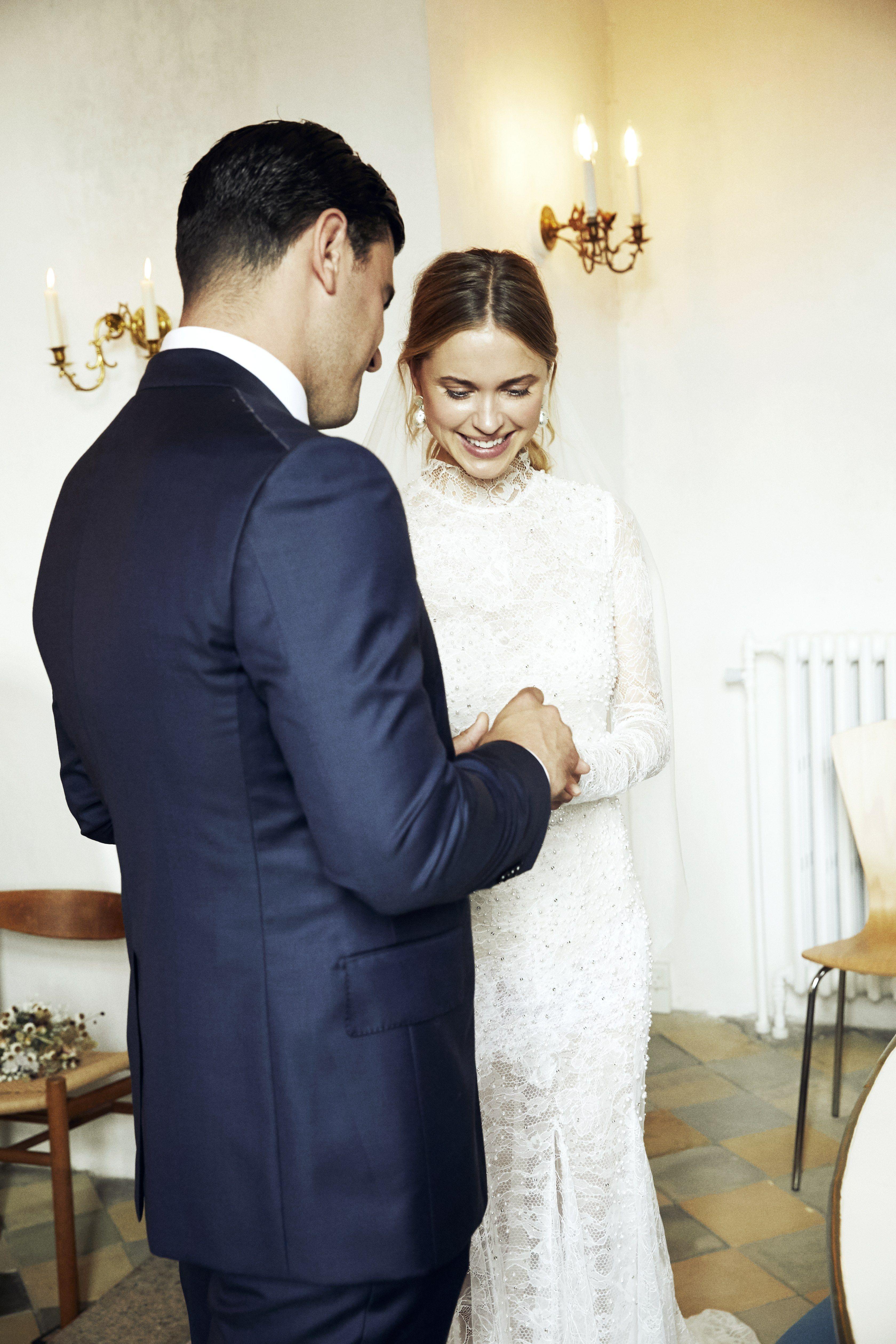 Pernille Teisbaek's Stylish Wedding Off the Coast of