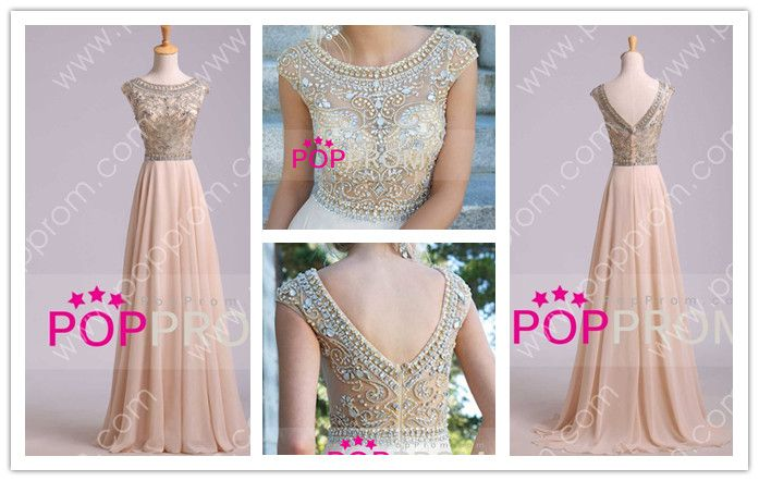 #poppromprom ❤ #A #Line #long #Chiffon #Prom #Dress  from popprom.com