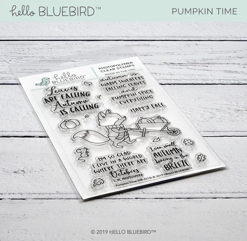 Pumpkin Time Stamp Clear Stamps Blue Bird Stamp