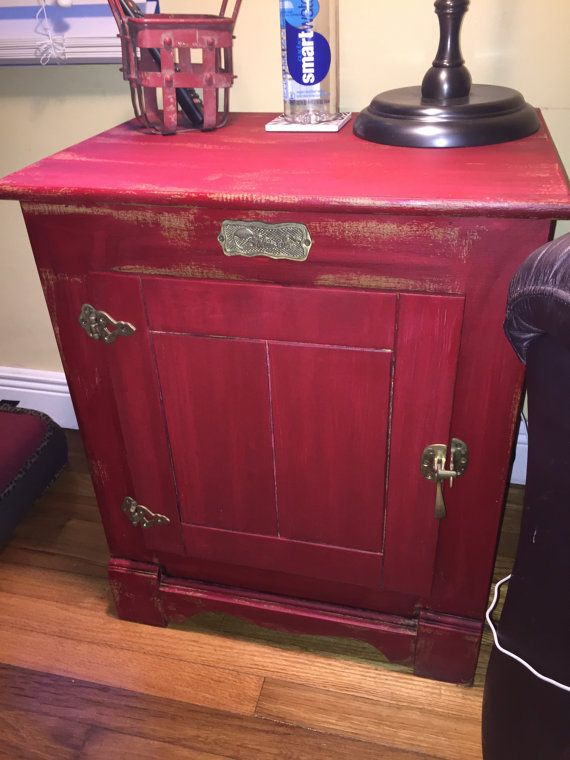 Vintage Ice Box End Table Vintage Ice Box End Table Makeover Ice Box