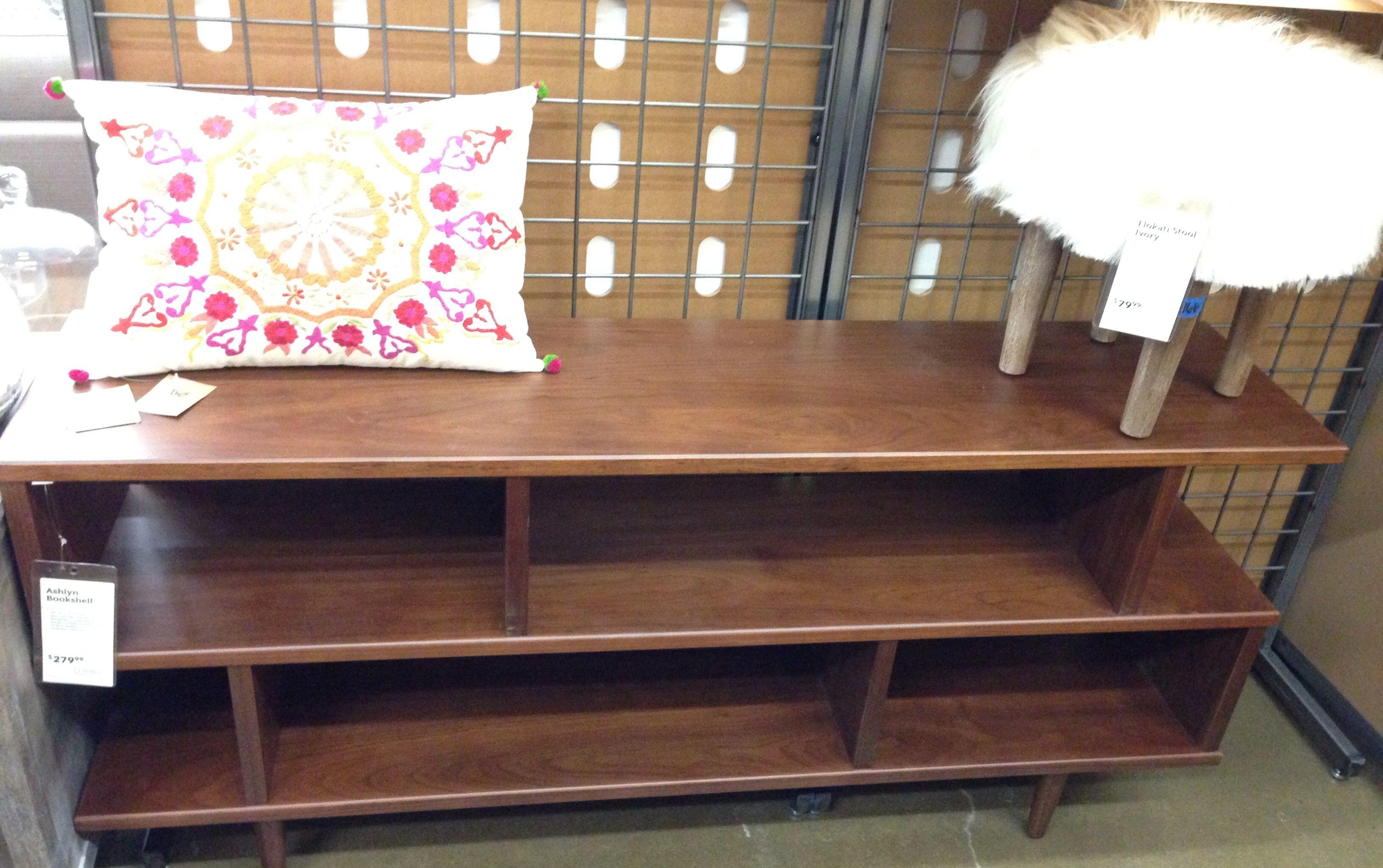 Walnut Brown Wood Ashlyn Bookshelf World Market Low Bookcase
