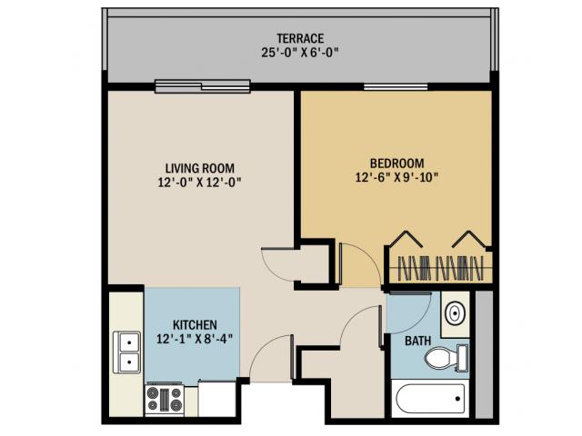1 Bed 1 Bath Apartment In Grand Rapids Mi Viewpointe Apartments Bedroom Studio Studio Floor Plans Floor Plans