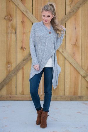 What A Girl Wants Cardigan, Gray