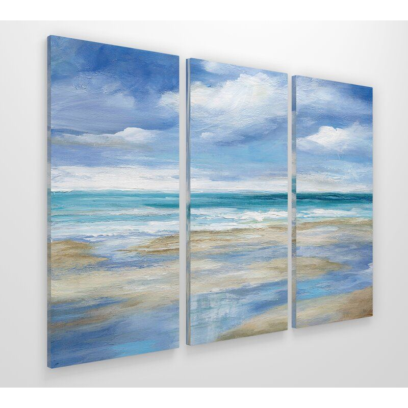 Washy Coast I 3 Piece Multi Piece Image On Canvas Painting Gallery Wrap Canvas 3 Canvas Paintings