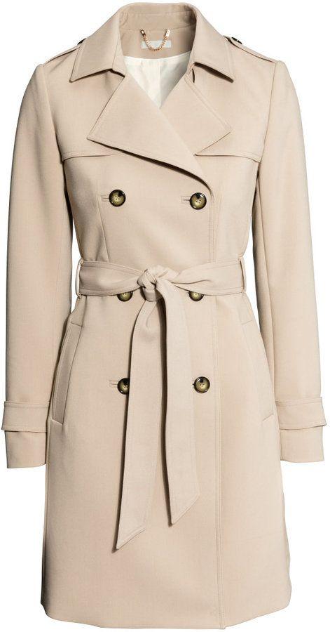 81ec5c68ae H&M Trenchcoat - Light beige - Ladies on shopstyle.com | Believing ...