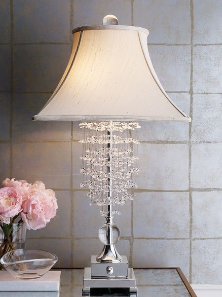 Horchow fascination table lamp crystal neiman marcus new