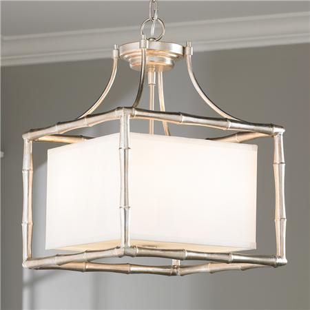 Bamboo square shade pendant squares pendants and lights silver bamboo square shade pendant aloadofball Images