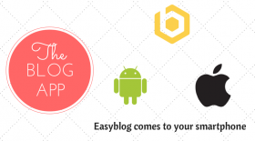"""EasyBlog now at your fingertips with """"The Blog App""""!"""