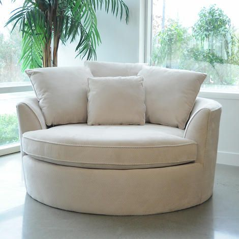 Asha Cuddler Cream Chair Round Sofa Chair And A Half Cuddler Chair
