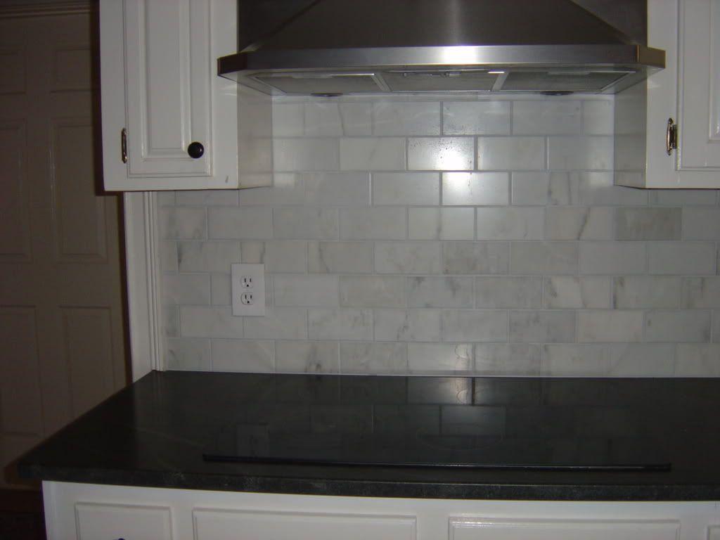 Carrara marble subway tile backsplash kitchen remodel carrara marble subway tile backsplash dailygadgetfo Image collections