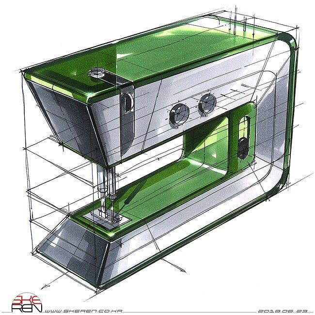 #industrialdesign Product Design & Sketches. on Instagram: Amazing sketch By @sangwonseok  #copic #marker #digitalart #behance #portfolio #idea #conceptcar #conceptdesign #cardesign #carsketch