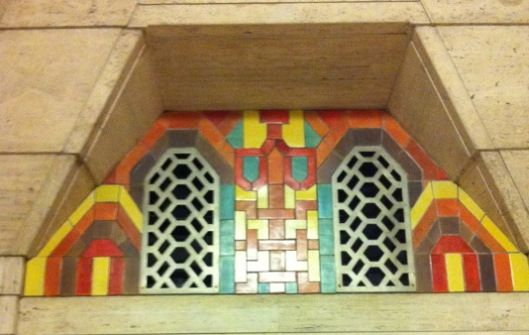 Flint Faience In Hallway To Lower Banking Room The Tile Company Was Founded 1921 As A Division Of Ac Spark Plug