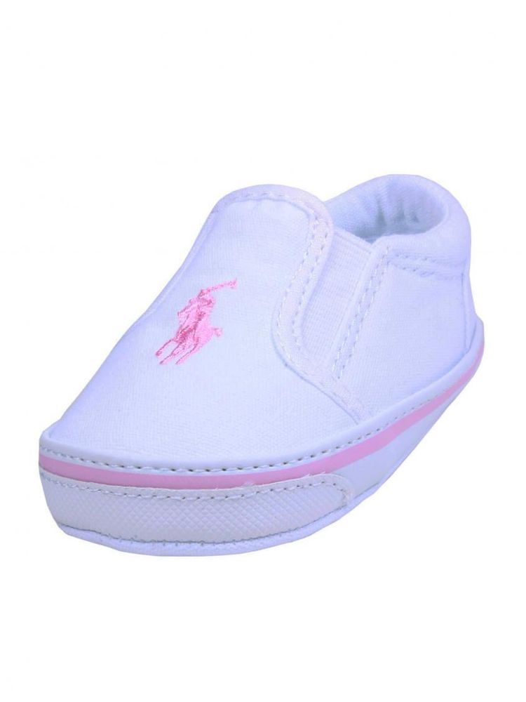 2342c1355e Girls Ralph Lauren Pink Polo Horse Infant Baby Boat Shoes Balmount ...