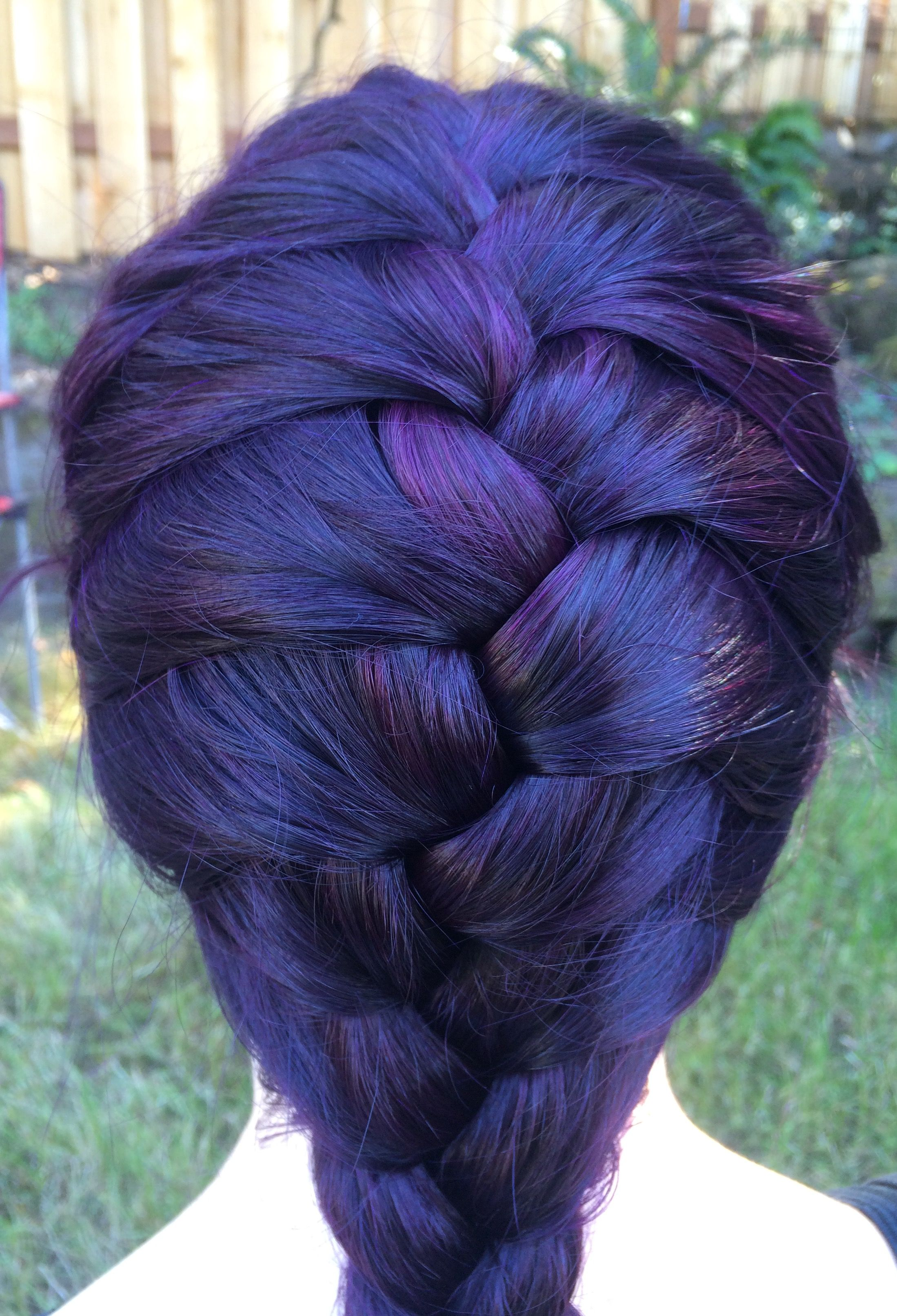 Arctic Fox Purple Rain Over Medium Brown Hair Fox Hair Dye Arctic Fox Hair Dye Medium Hair Styles