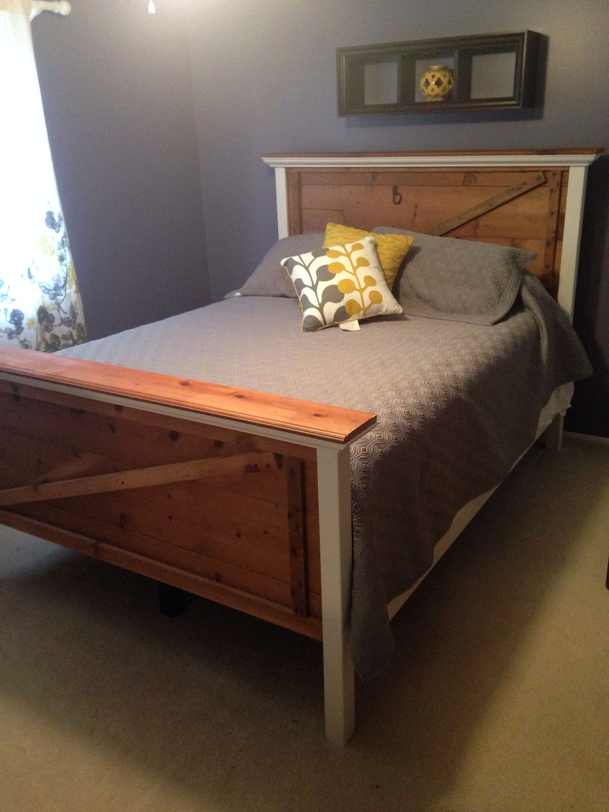 Bed Frame Built From Old Barn Doors All Reclaimed Wood