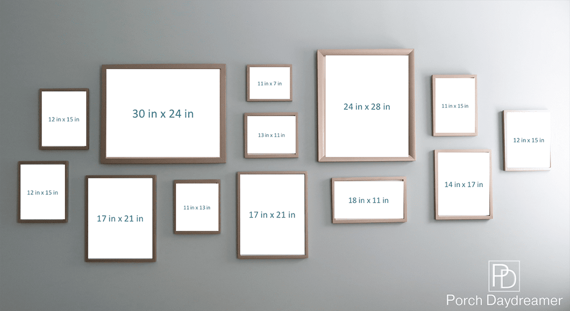 Gallery Wall Layout With Sizes Of Frames Included Gallery Wall Layout Photo Wall Gallery Family Gallery Wall