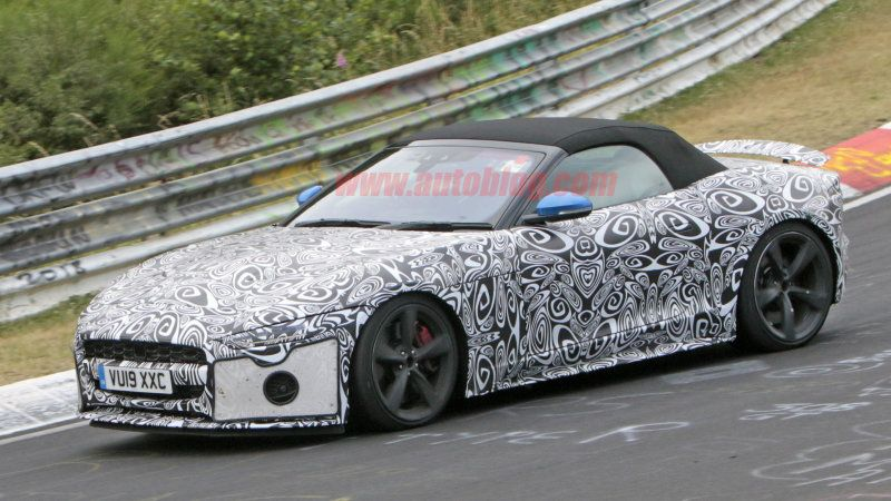2021 Jaguar FType coupe, convertible spy photos from the