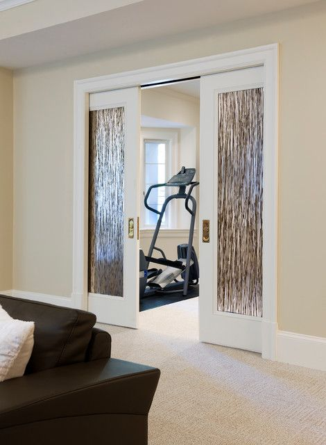 Basement Room Door Ideas: Double Doors To Exercise Room