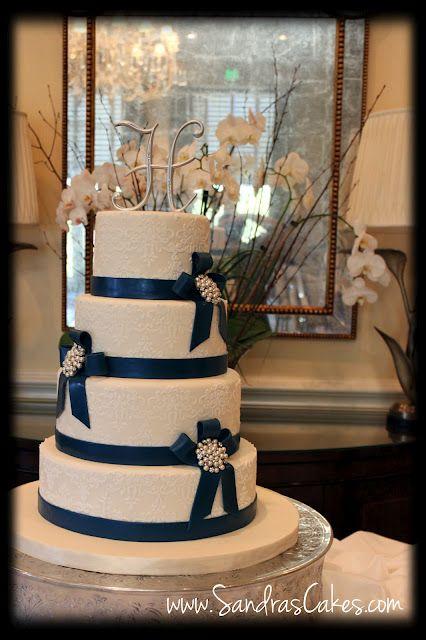 Navy Blue Wedding Cake Navy Blue Wedding Ideas Pinterest