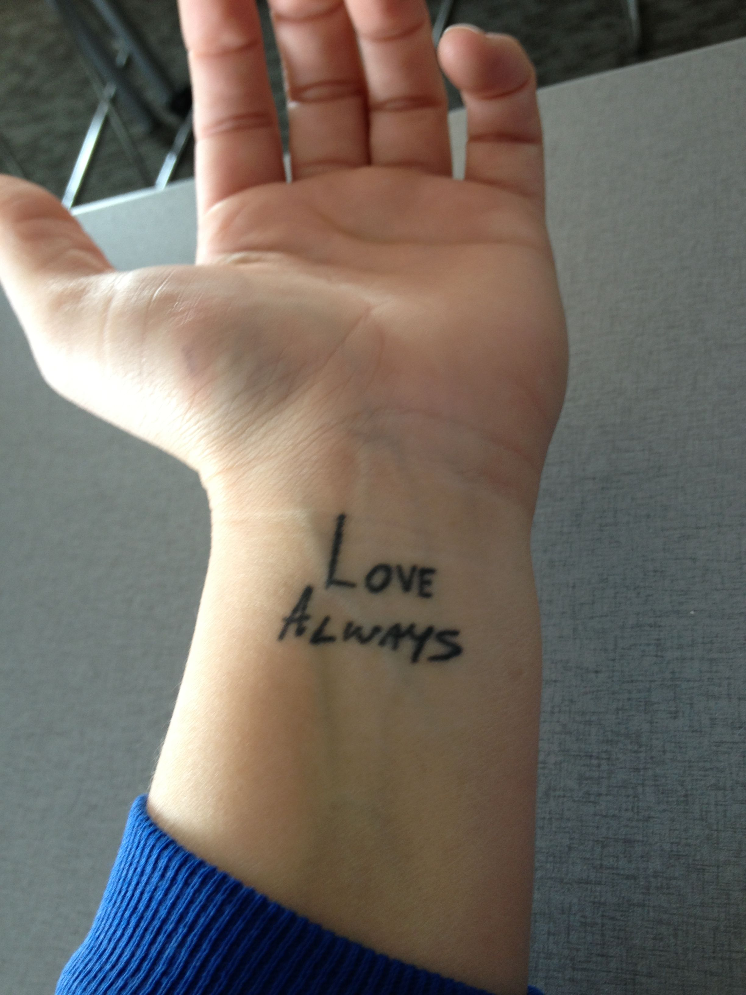 My tattoo dedicated to my mom and dad for always loving for Dad i love you tattoo