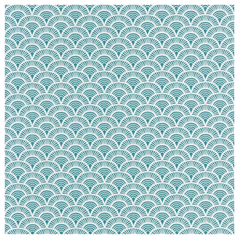papier peint japonais bleu et blanc
