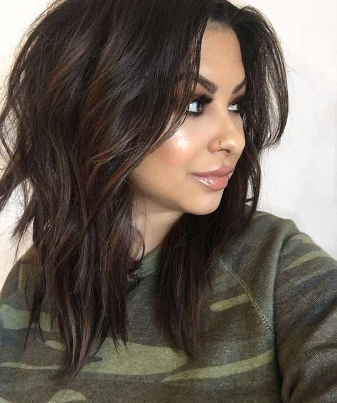 90 Highlights für schwarzes Haar, das großartig aussieht #cutehairstylesformediumhair