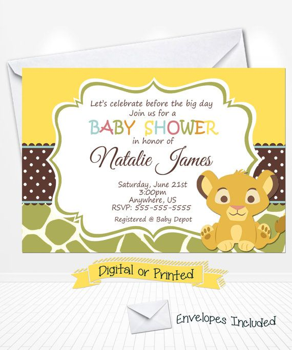 Simba lion king baby shower invitations printed by andabloshop simba lion king baby shower invitations printed by andabloshop filmwisefo Gallery