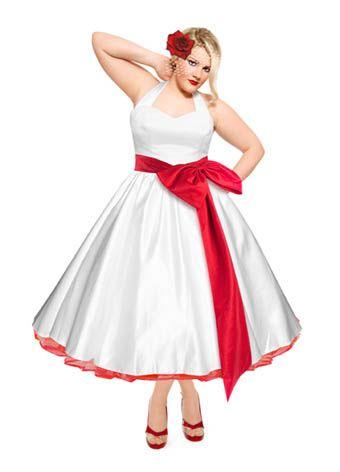 HPB plus size   Rockabilly wedding dresses, Red wedding ...