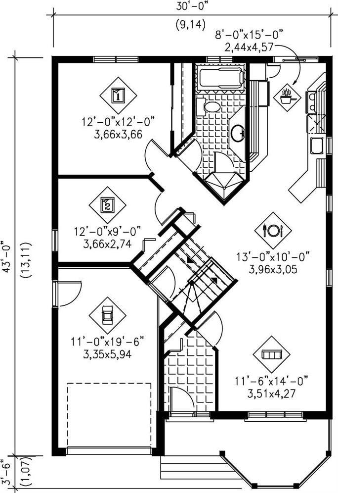 MAIN FLOOR PLAN Floor Plans Pinterest House, Small house plans