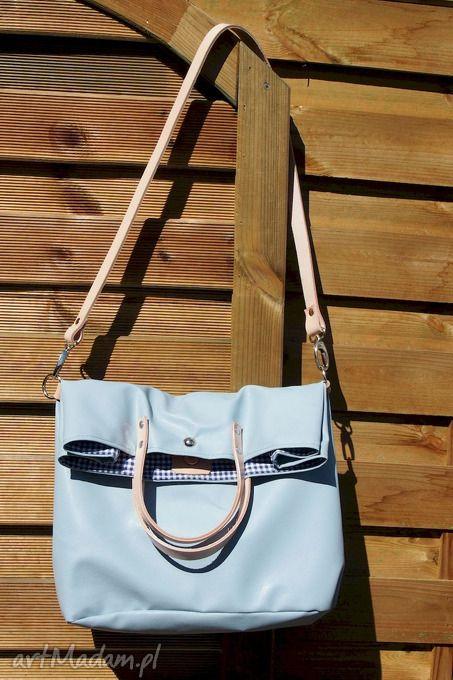 1e012e97b517c Składana mana błękitna chmurka ramię pracownia torba torebka ...