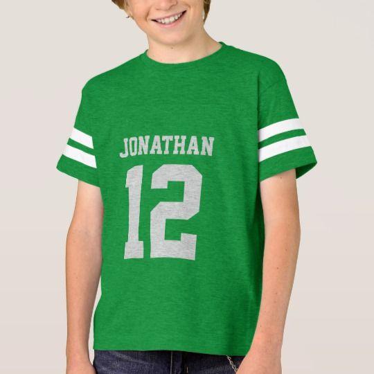 4af79d26 Custom Name Number Boys Sport Jersey Shirt   Zazzle.com   Products ...