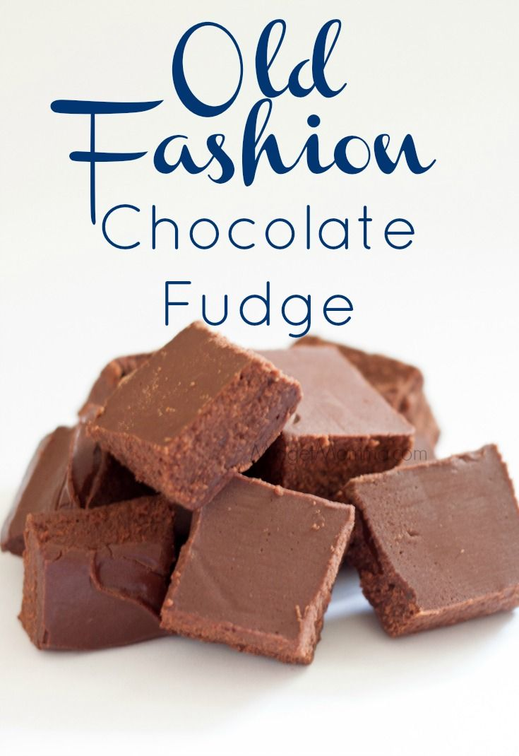 The BEST Old Fashion Chocolate Fudge • MidgetMomma