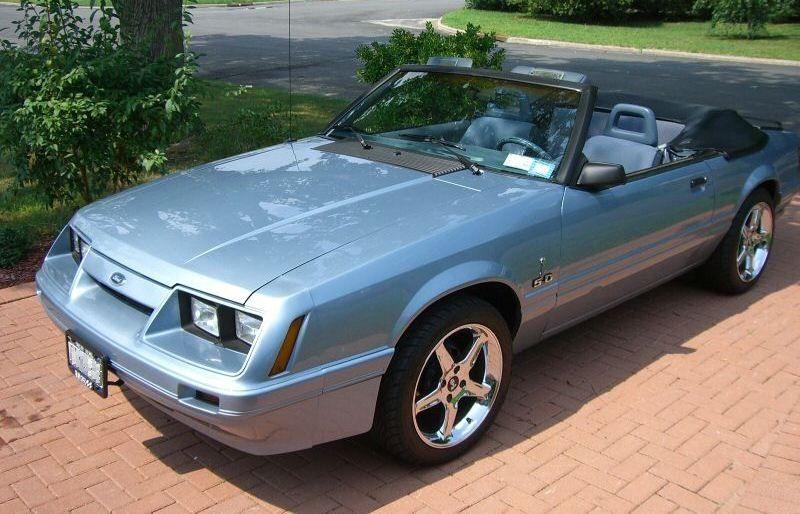 Light Regatta Blue 1986 Mustang Convertible Mustang Convertible Blue Mustang Ford Mustang Convertible