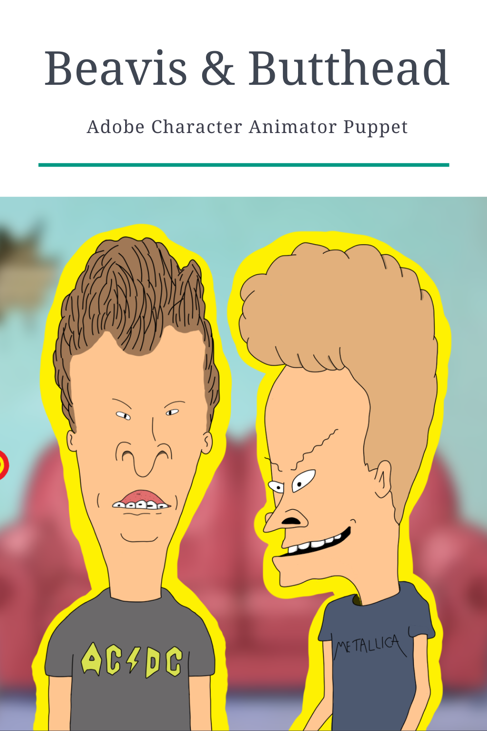Beavis And Butthead Character Animator Puppet Free Puppet Old School Cartoons Character Animator Cc Puppets