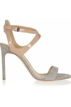 Reed Krakoff Patent-leather and suede sandals  | NET-A-PORTER
