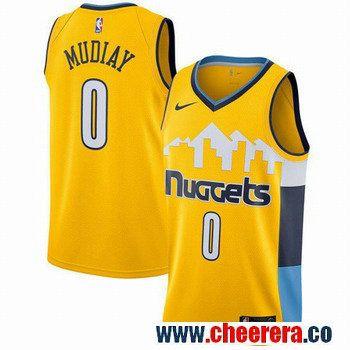 be7c7550 ... amazon mens nike denver nuggets 0 emmanuel mudiay yellow nba swingman  statement edition jersey 673f9 7ad21