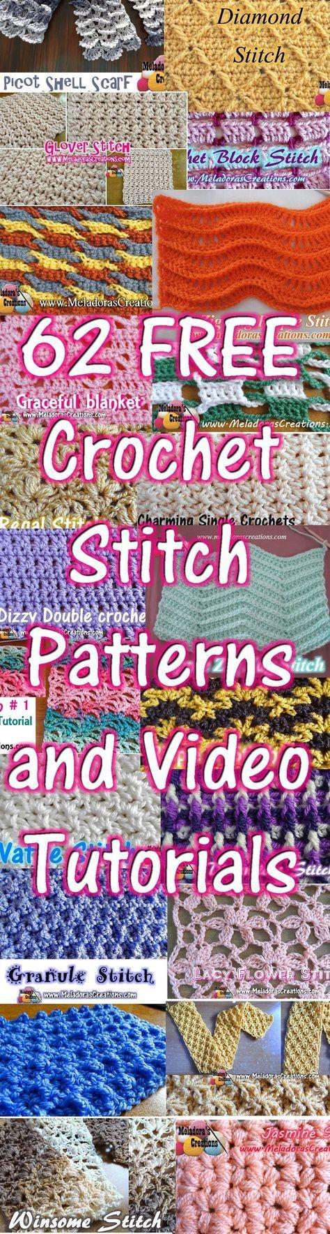 Crochet Stitch Patterns and Video | motiv | Pinterest | Häkeln ...