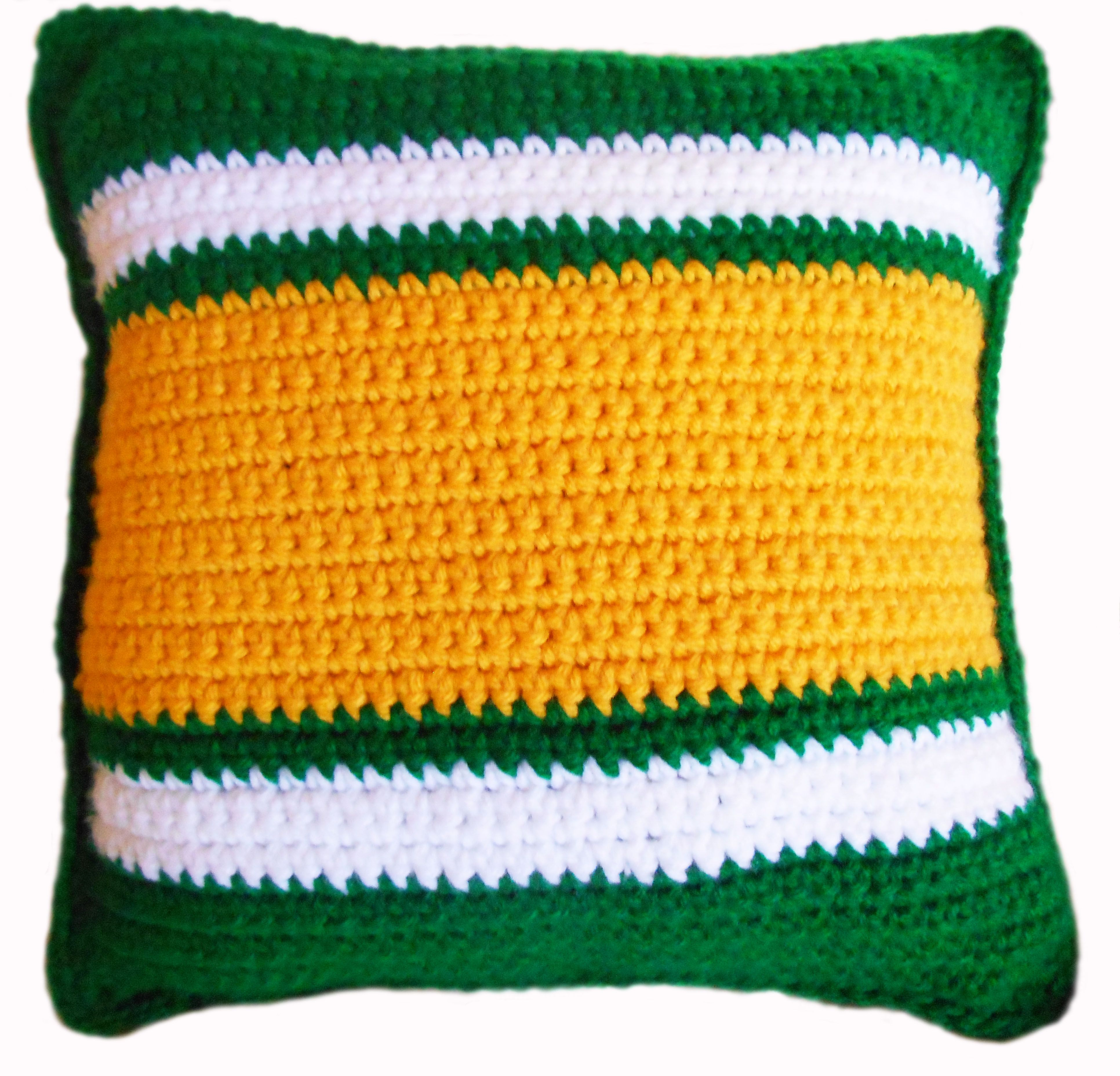 The wait's finally over: football is back, and it's time for you, FOOTBALL FANS, to gear up for the season ahead. Celebrate your favorite team and player with a custom crochet pillow showcasing your team's colors and your favorite player's number on the other side. This is a made to order item. Please state the NFL team and the player's number. And it should take 3-5 days to complete and also depending on the number of orders before you. $50.00
