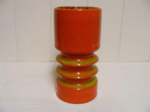 Bekijk dit items in mijn Etsy shop https://www.etsy.com/listing/285651589/orange-fohr-keramik-fat-lava-vase