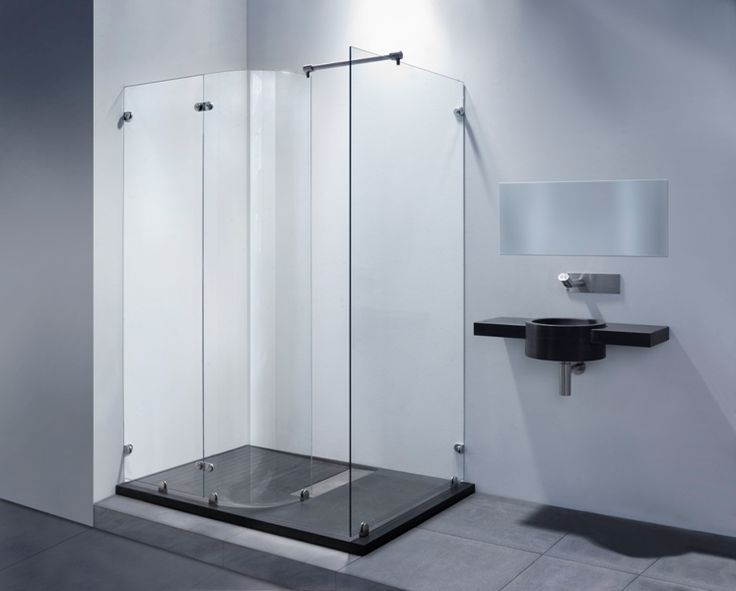 Inloopdouche Met Hoek : Balance inloopdouche rond glaselement freestyle 9790 product in
