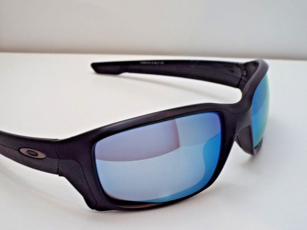 dce2efdad2 Authentic Oakley OO9331-05 StraightLink Black Prizm Deep Water P Sunglasses   245  fashion