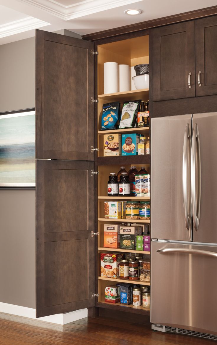 A tall kitchen pantry is a must-have for storing groceries ...