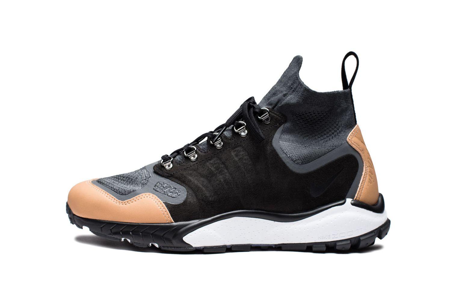 f0c5bf54b767 Nike Air Zoom Talaria Mid Flyknit Anthracite Black Vachetta Tan Dark Grey