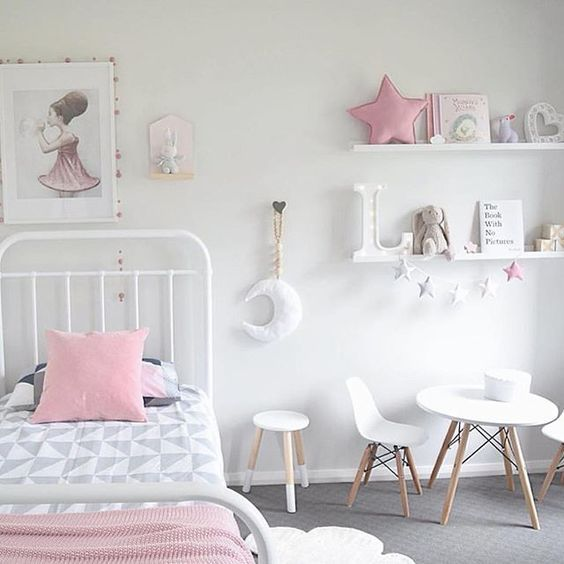 girls white bedroom ideas | Barnerom, Jenterom og Hjem