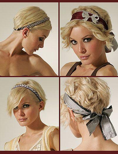 Short Hair Accessories A New Look Short Hair Accessories Headband Hairstyles Hats For Short Hair