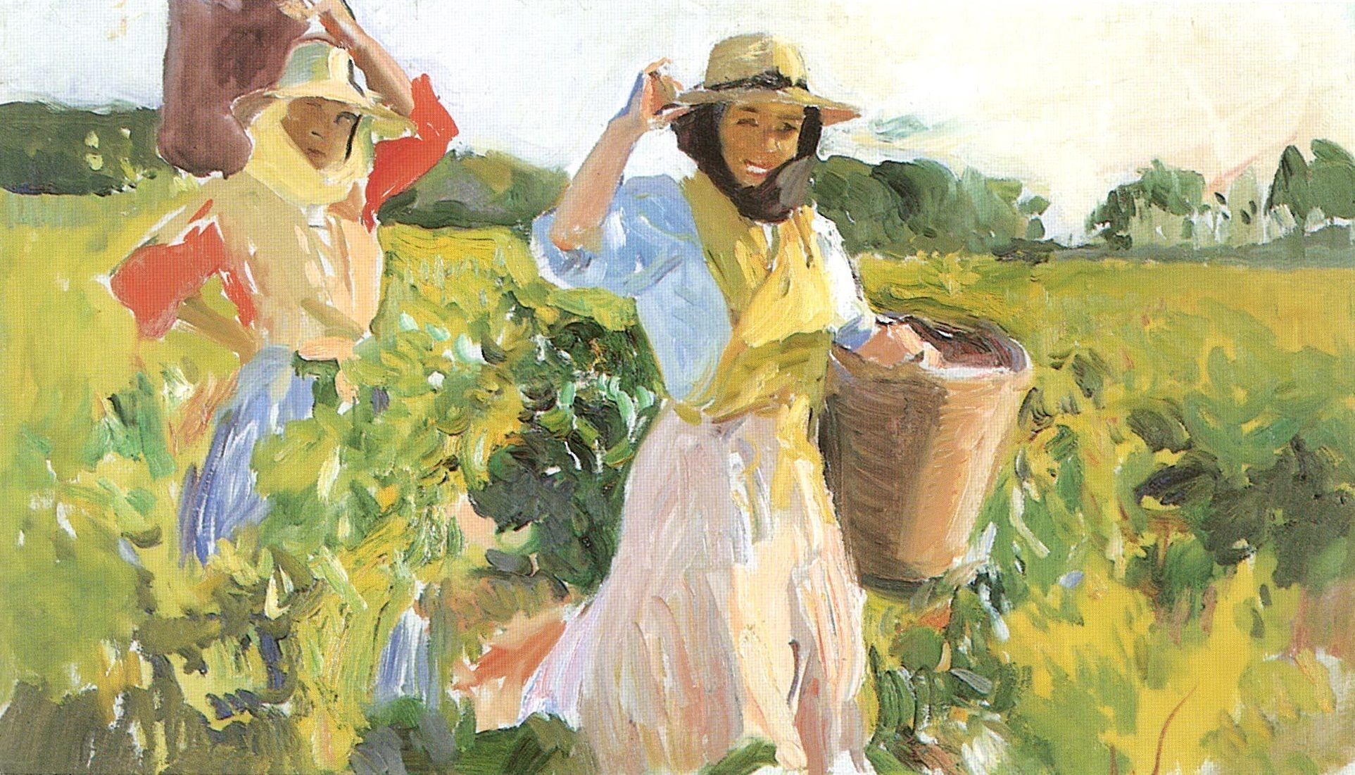 'Vendimiando, Jerez' (1914), de Joaquín Sorolla.