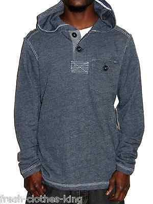 MARC ECKO New Mens Denim French Blue Pullover Hoodie Sweater Size Medium